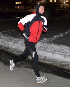 Night Running in Winter