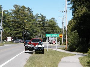 Mile 14 - Glen Arbor Sign