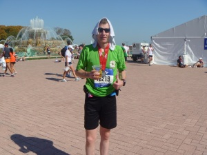 Actually, I was a different person after the marathon. Damn tired, for one thing. Sore, too.