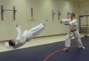 A rare treat - throwing my instructor.