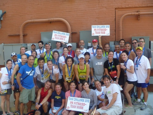 The PR Fitness teams at the Crim 10-mile. (I'm the last row, far right.)
