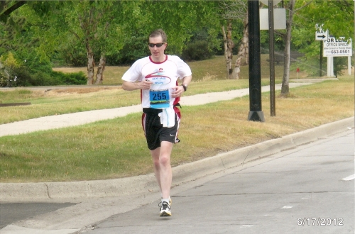 Mile 19 of the Ann Arbor Marathon in June.