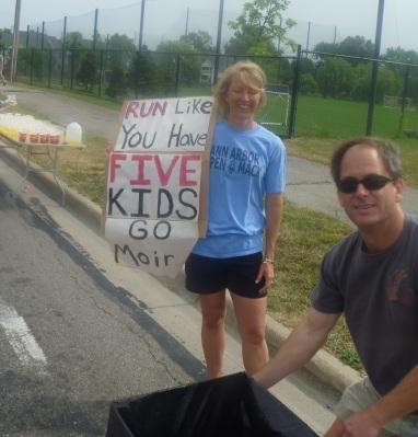 Barf bucket? Thanks, don't mind if I do. (Mile 23, A2 Marathon 2012)