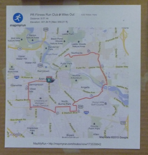 Feb 2013 - Run Map