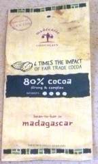 Madecasse 80 percent - front wrapper
