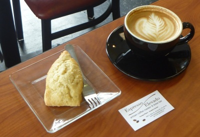Espresso Elevado - Lemon Ginger Scone and Latte