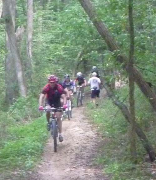 Oh, look, some mountain bikers. Cool! What's that - there's 200 MORE COMING? Oh, @&$@*!