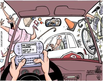 091002c-Distracted Driver-CagleCartoons