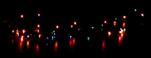 Xmas lights on table 2