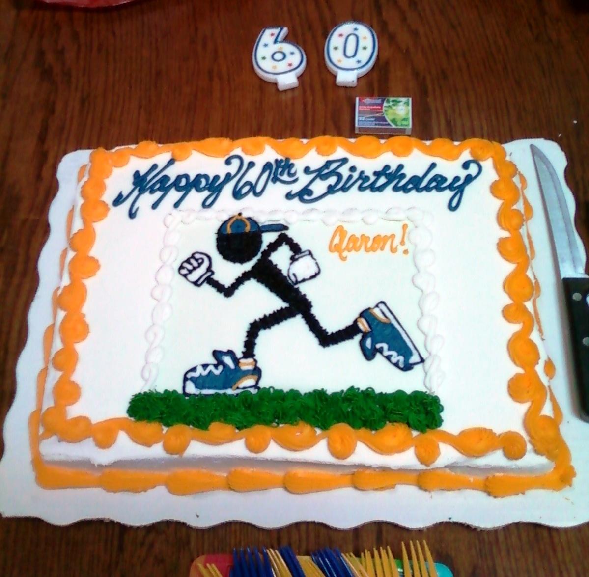 Birthday Cake Pictures For Runners : Bigfoot 5K RUN BIKE THROW