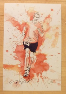 A talented artist in our group did this drawing of Aaron. Really captures his spirit!