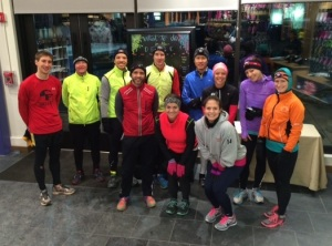 Last night's runners. As you can see, we're a pretty low-stress bunch.