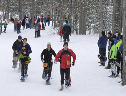 Frankly, I'd rather snowshoe a half mile than swim it. Anyone for a winter tri?