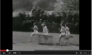 Video of Bannister breaking the four-minute mile, with Chataway's help. Click to see it.
