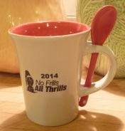 No gold shoes for age group awards this year, but  check out the mug with integrated spoon.