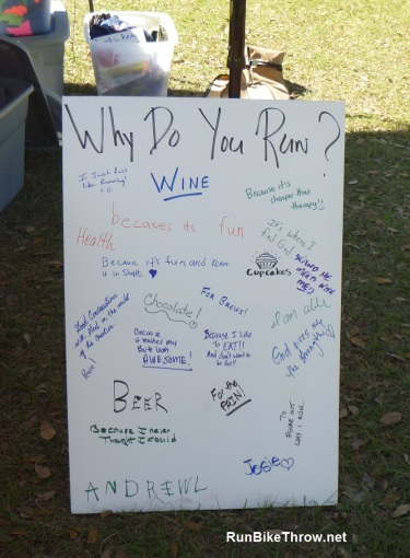 Why Do You Run? Seen at DWD Green Swamp 2014