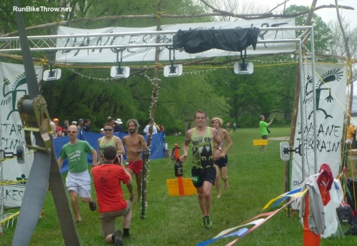 My finish line photo isn't ready yet, so this is simulated. Just pretend one of those buff Quaff On team members is me.