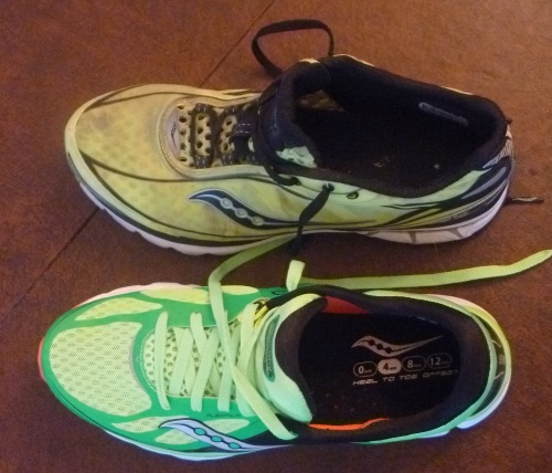 The Kinvara 5 have more heel padding and a more breathable mesh upper - both really nice changes.