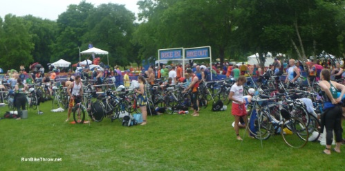 The staging area. You rack your bike here before the start, and come back for each transition.