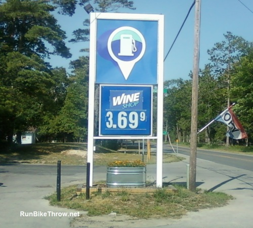 Sign - Wine at Gas Pump - Glen Arbor