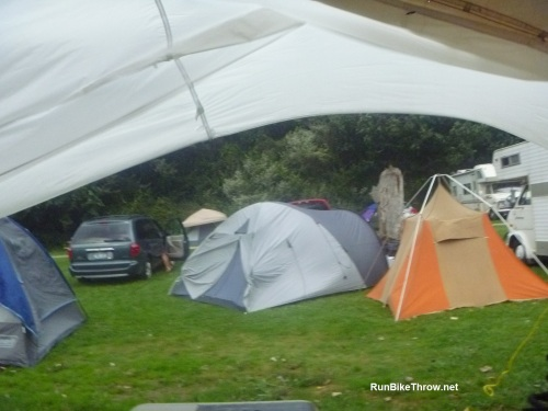 That tent wall is supposed to be touching the ground, you see.