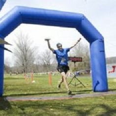 This isn't me, but this was how I crossed the finish line!