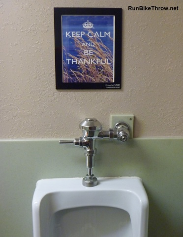 In the men's room at the resort. I'm not sure why it appealed to me so much. Frozen brain, maybe.