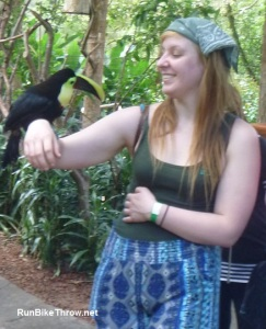 Costa Rica - Rachel with Macaw - 2
