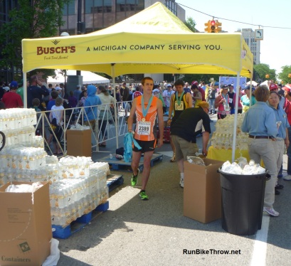 2012 Dexter-Ann Arbor half marathon: just one of the water stations.