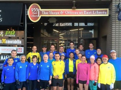 The 2015 PR Fitness Boston Marathoners.