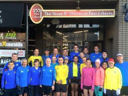 The 2015 PR Fitness Boston Marathoners.