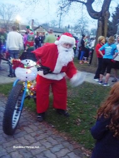 Santa's alternative mode of transportation.