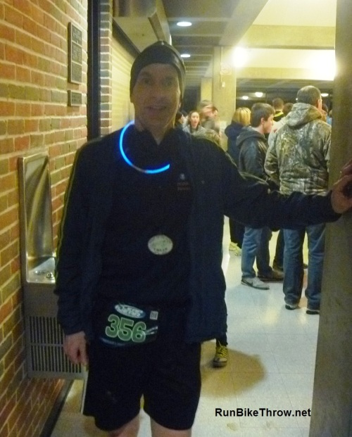 "This race was also known as the ""Night of the Glow"". The medal glows, too!"