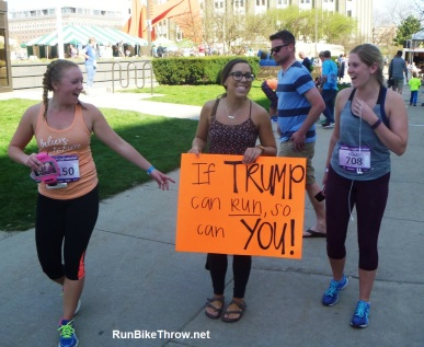 Gazelle Girl 2016 - If Trump Can Run sign