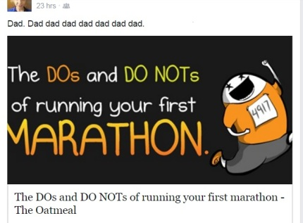The Oatmeal - Marathon Running - from Facebook page