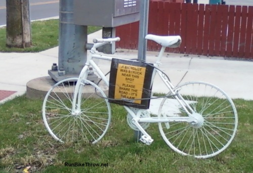 Ghost bike. Way too many of these.