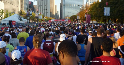There are running jams, too, but the energy is much more positive. (2011 Chicago Marathon)