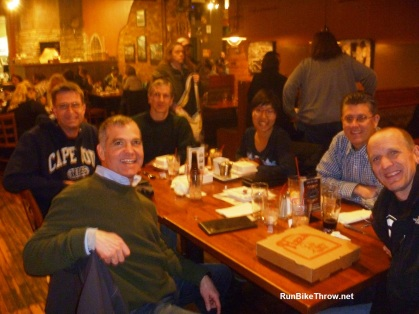 Carbo-loading at Walldorff Provisions in Hastings Friday night.
