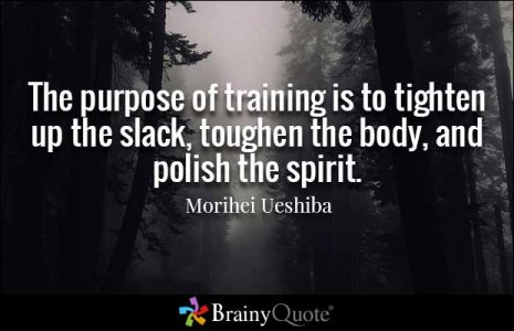The Purpose of Training