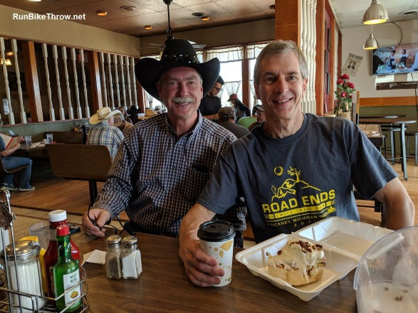 Burning Man 2018 - Me with Jim at Outlaw Cafe in Laramie - 2